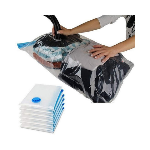 VAC-B130 -  130 x 100cm Vacuum Bag For Clothes Storage Bag With Valve Transparent Border Foldable Compressed Organizer Space Saving Seal Packet