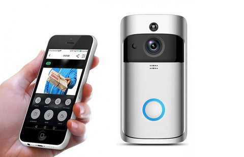 WiFi Video Doorbell Smart Doorbell Security Camera with PIR Motion Detection and App Control for iOS and Android