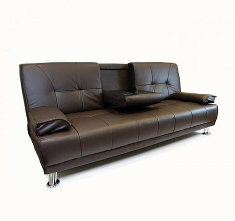 Aanaya 2 Seater Faux Leather Sofa Bed
