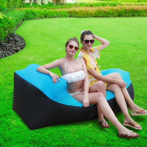 LB-LGR -  Inflatable Lounger Air Sofa Hammock-Portable,Water Proof& Anti-Air Leaking Design-Ideal Couch for Backyard Lakeside Beach Traveling Camping Picnics & Music Festivals