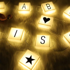 LLB-60 - DIY Letter Combination Sign,LED Letter Light Box String,Holiday Decoration Lantern Battery Box String Lights
