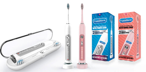 CrystalSonic™ UtraSonic Toothbrush with Travel Case