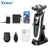 Kemei 3 in1 Electric Shaver Multifunctio Rechargeable 5 Blade Washabl Electric Shaving Razors Men Face Care 5D Floating 5886