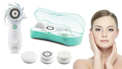 Touch Beauty 3 in1 Facial Cleansing Brush IPX6 Waterproof with 2 Speed Settings Face Skin Cleanser & Exfoliator