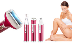 4 in 1 Ladies Shaver - Eyebrow Shaping, Body Shaver, Nose Trimmer, Facial Shaver in ONE.