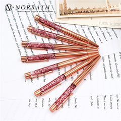 NORRATH Stationery Rose Gold Metal Ballpoint Pen Luxury Pen School Supplies Office Accessories Oily Refill 1.0