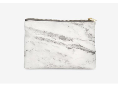 Never Marble Edition Big Pencil Bag Portable File Bag Office Leather Accessories Girls Business Creative Gifts Stationery Store