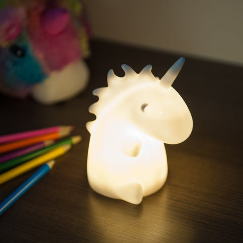 Childrens Uni the Unicorn LED Night Light - Multi Coloured