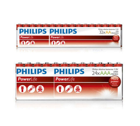 Philips PowerLife Alkaline AA