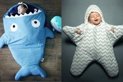 Baby's Animal-Shaped Sleeping Bag (Shark)