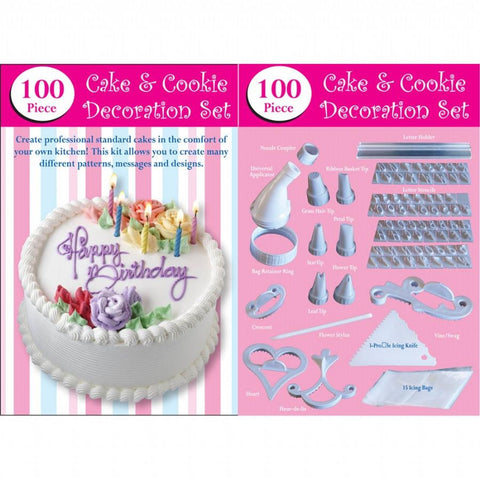 100 Piece Cake Decorating Kit