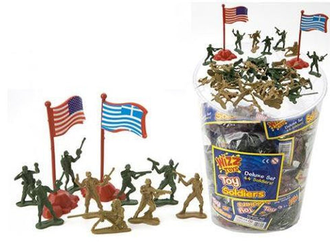 44 Assorted Colour Soldiers with Play Mat and Flags