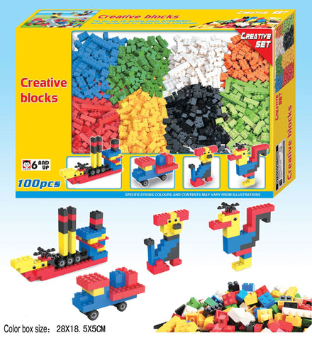 100 pc LEGO Compatible Building Bricks