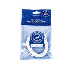 iiVO Twist Reversible Apple Lighting USB Cable Extra-long 6ft MFi Certified