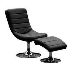 Alpina Faux Leather Relaxing Leisure Chair with Footstool