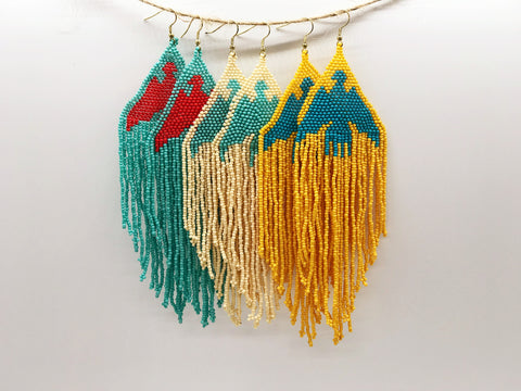Large Fringe Earrings