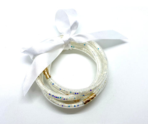 5pc Glitter filled bangles