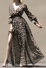 Load image into Gallery viewer, Leopard Puff Sleeve Maxi