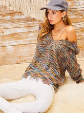 Load image into Gallery viewer, Multi color knit Sweater