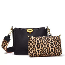 Load image into Gallery viewer, Black leopard purse
