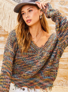 Multi color knit Sweater