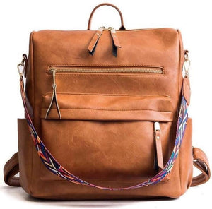 Guitar Strap Backpack-camel