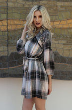 Load image into Gallery viewer, Flannel Shirt Dress