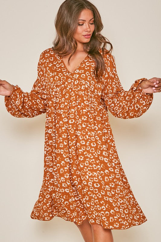 Pumpkin Spice Midi Dress