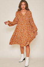 Load image into Gallery viewer, Pumpkin Spice Midi Dress
