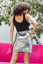 Load image into Gallery viewer, Sequin Mini Skirt
