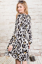 Load image into Gallery viewer, Leopard Skater Dress