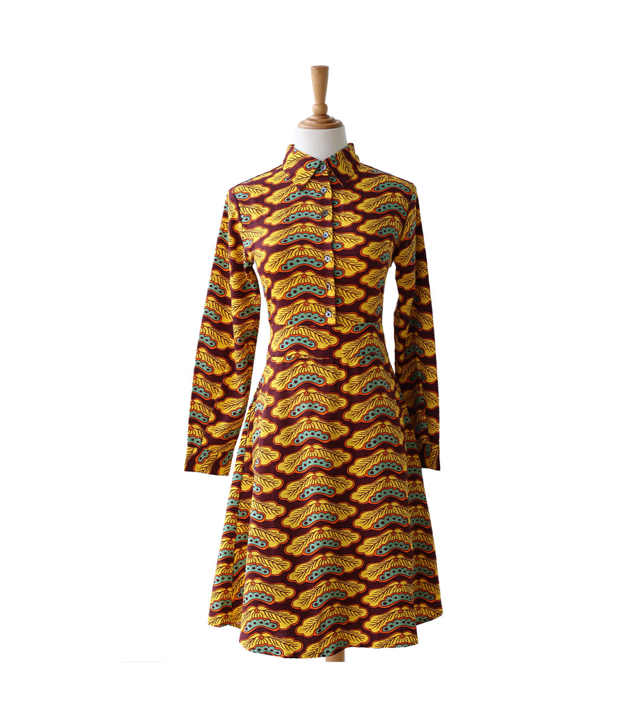 Ladies Dress - Porcelain Moon Yellow
