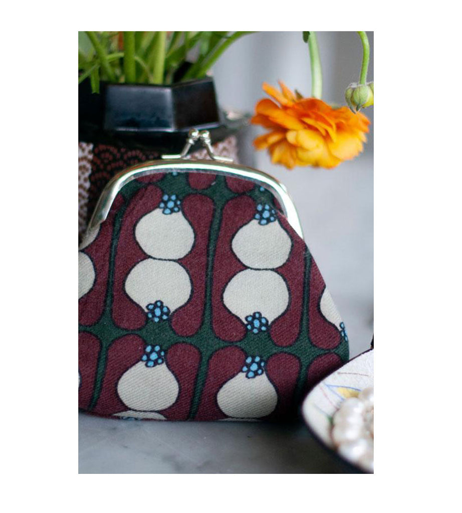 Coin Purse - Pinafleur Green Bordeaux