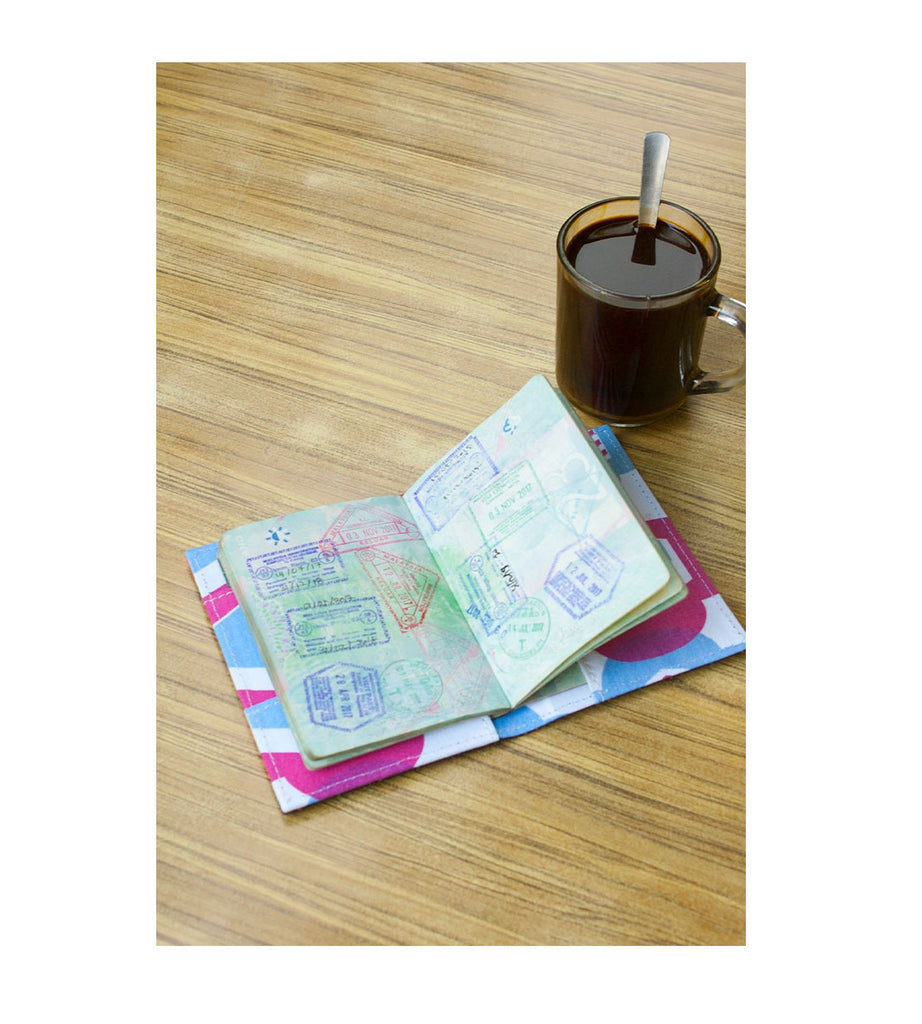 Passport Cover - Pinafleur Orange