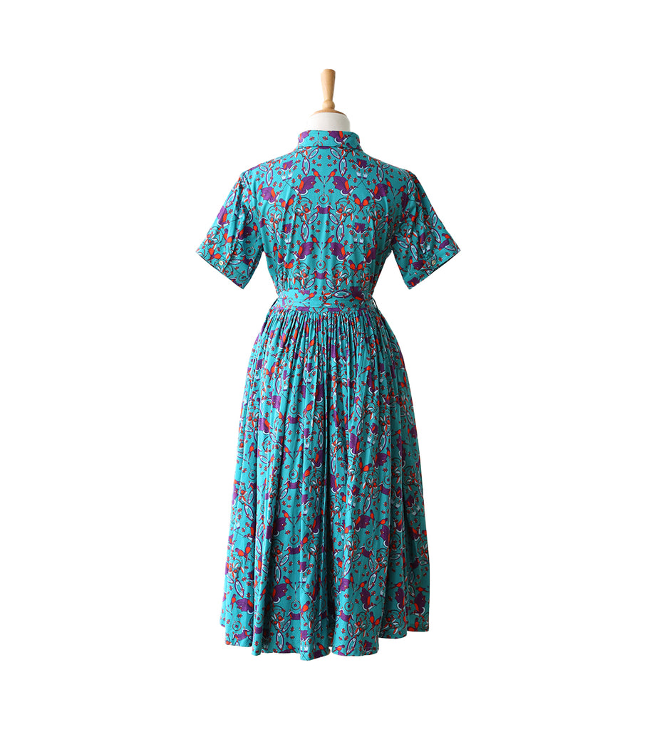 Fleur Shirt Dress - Parrot Green