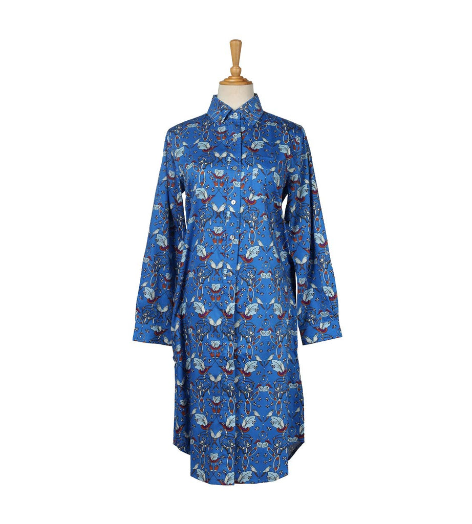 Shirt Dress - Parrot Blue