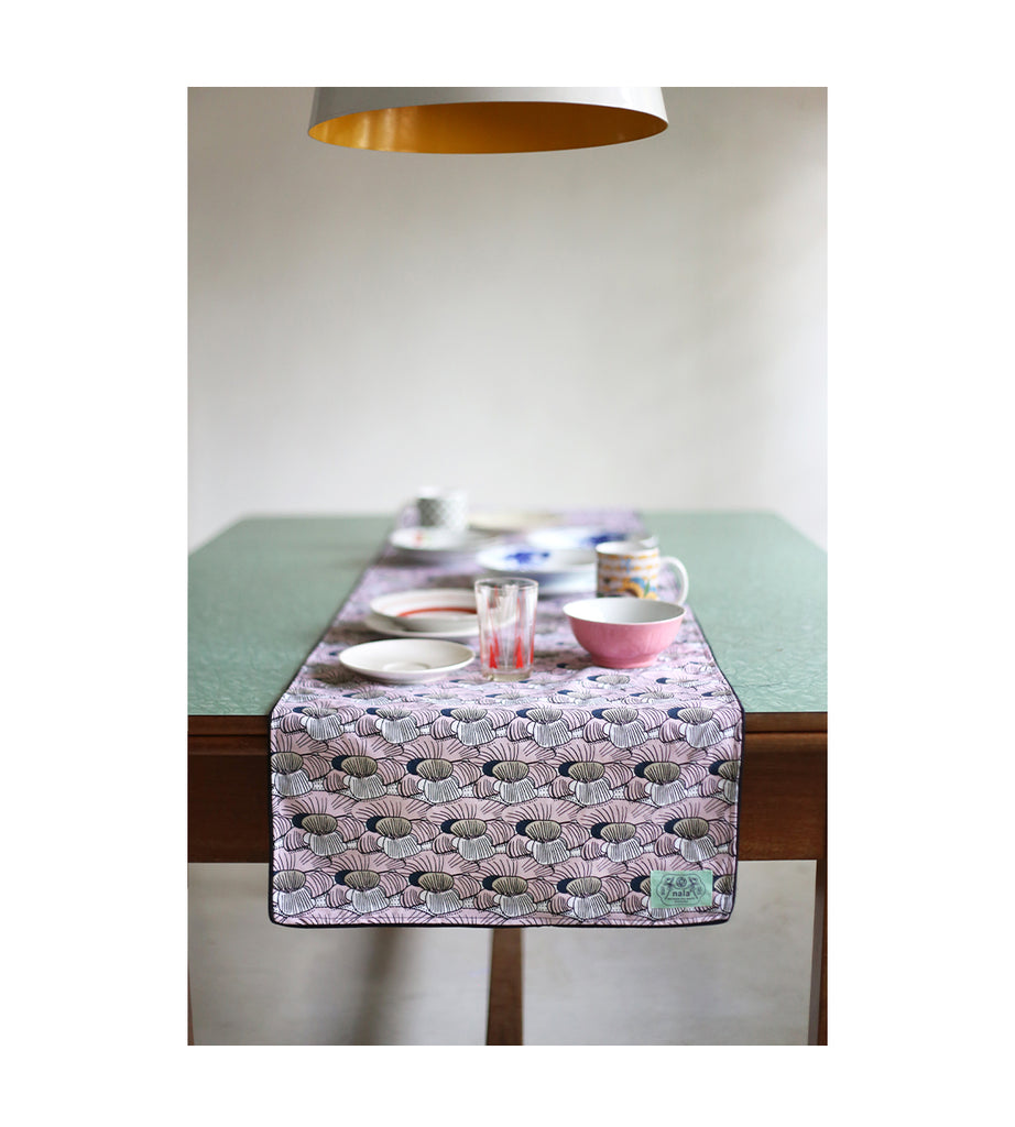 Table Runner - Samurai Cannonball Pink