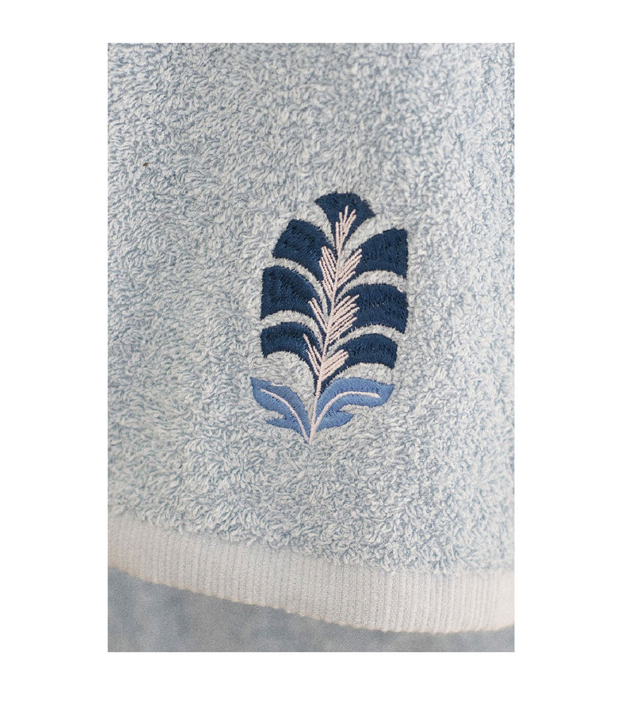 Towel - Jaipur Blue Leaf (Small)