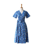 Wrap Dress - Parrot Blue