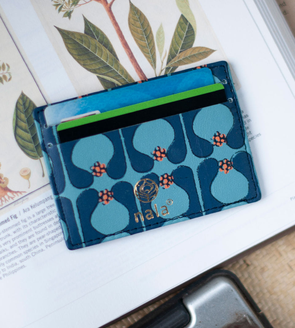 Card Holder Pinafleur Blue