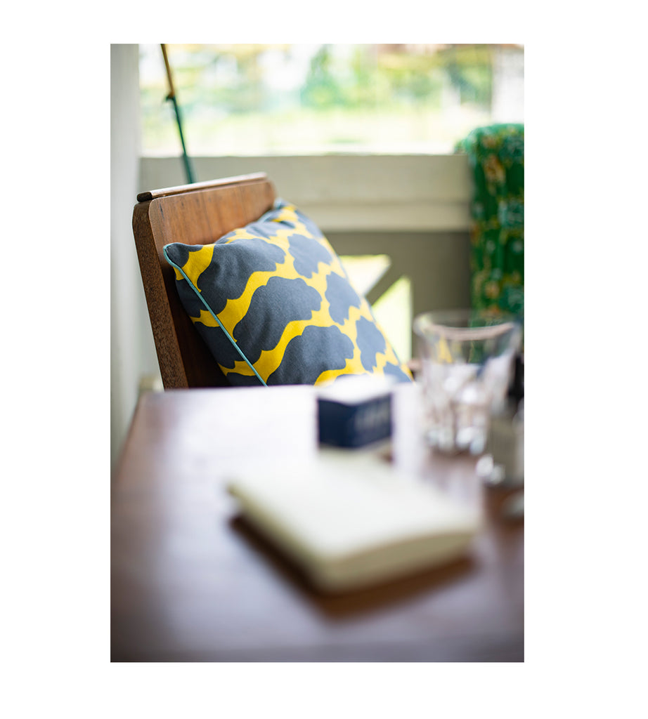 Cushion Cover - Mooncake Yellow (Large Square)