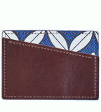 Takara Card Holder (Mocha/Willow Lace Blue)