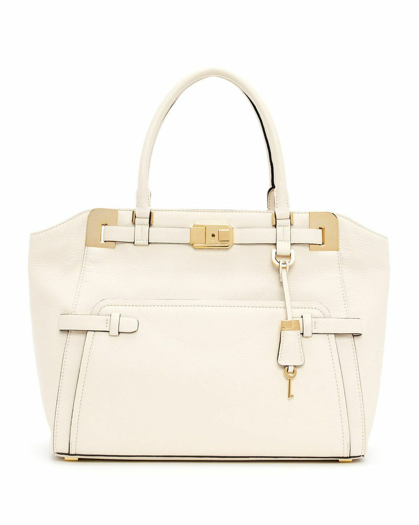 MICHAEL KORS COLLECTION BLAKE SATCHEL IN WINTER WHITE