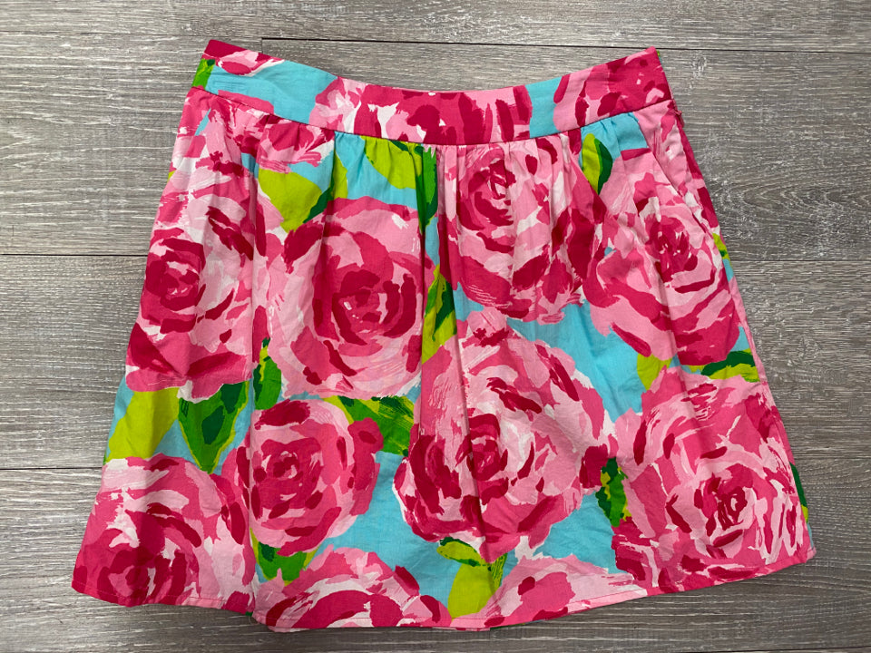 LILLY PULITZER WHITLEY SKIRT IN HOTTY PINK SMALL FIRST IMPRESSION SIZE 00