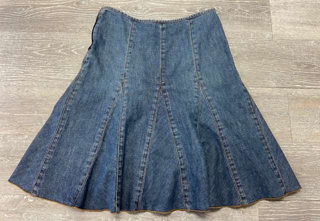 HALOGEN DENIM SKIRT SMALL