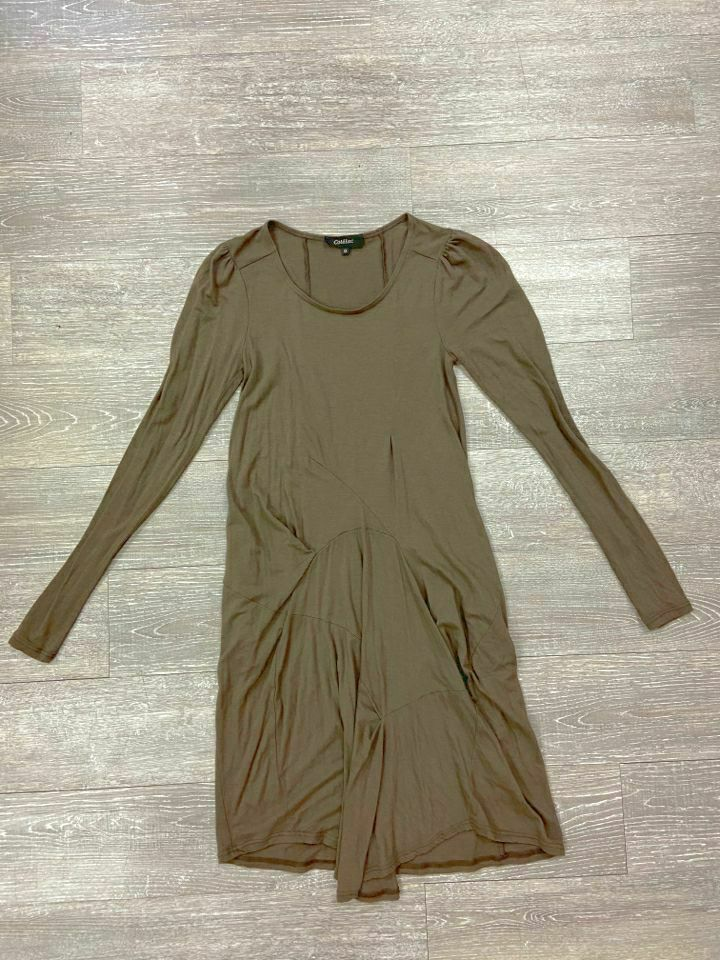 COTELAC BROWN  RUCHED LAGEN LOOK TSHIRT DRESS SZ 6