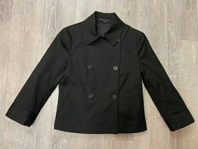 THEORY BLACK MIKEY CROPPED JACKET SZ SMALL
