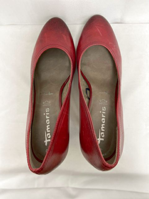 TAMARIS LEATHER HEELS SIZE 10 - wearhouseconsignment