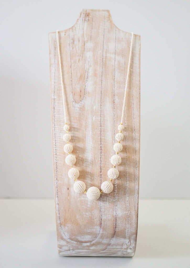 AID THROUGH TRADE BEADED UPTOWN GIRL NECKLACE