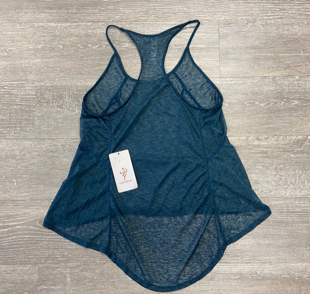 COZY ORANGE TEAL ATHLETIC TOP SMALL